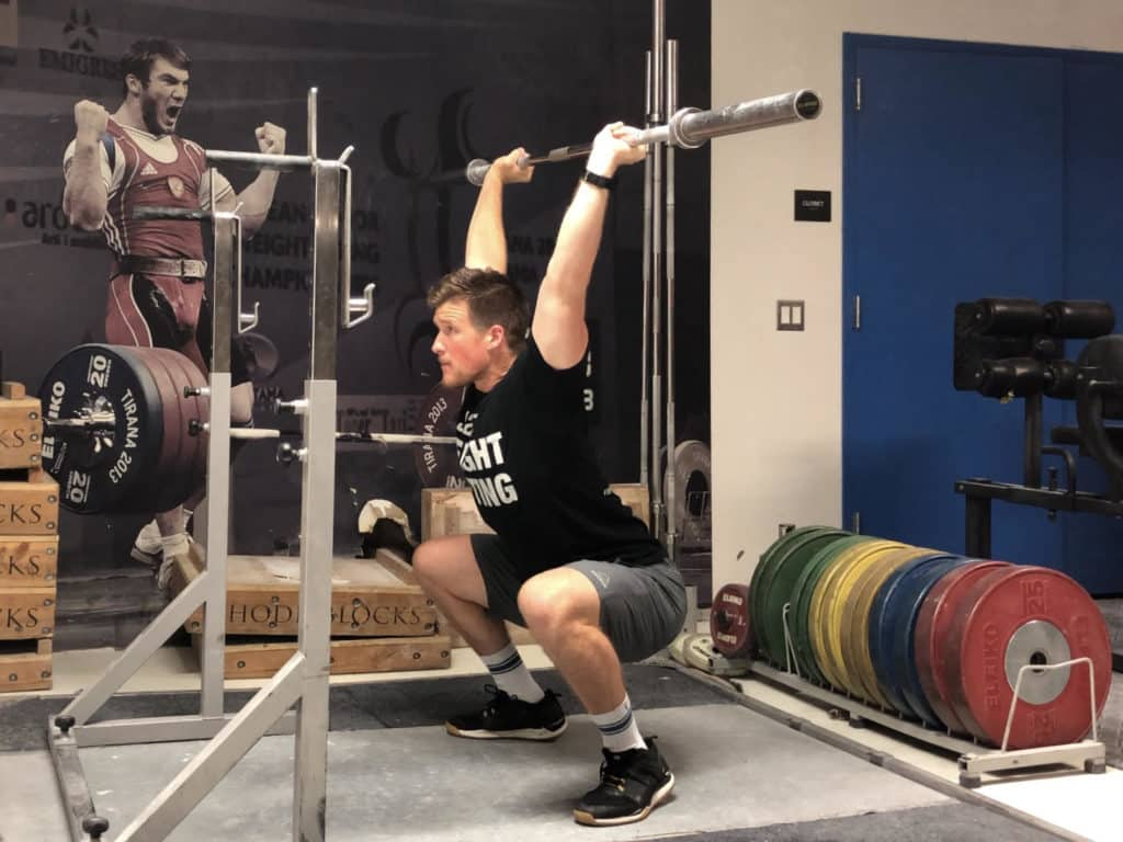 Squat Jerk Receiving Position 2