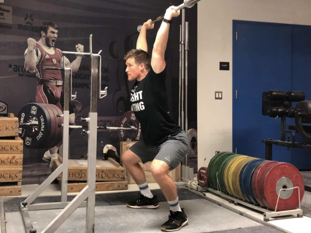 Squat Jerk Receiving Position 1