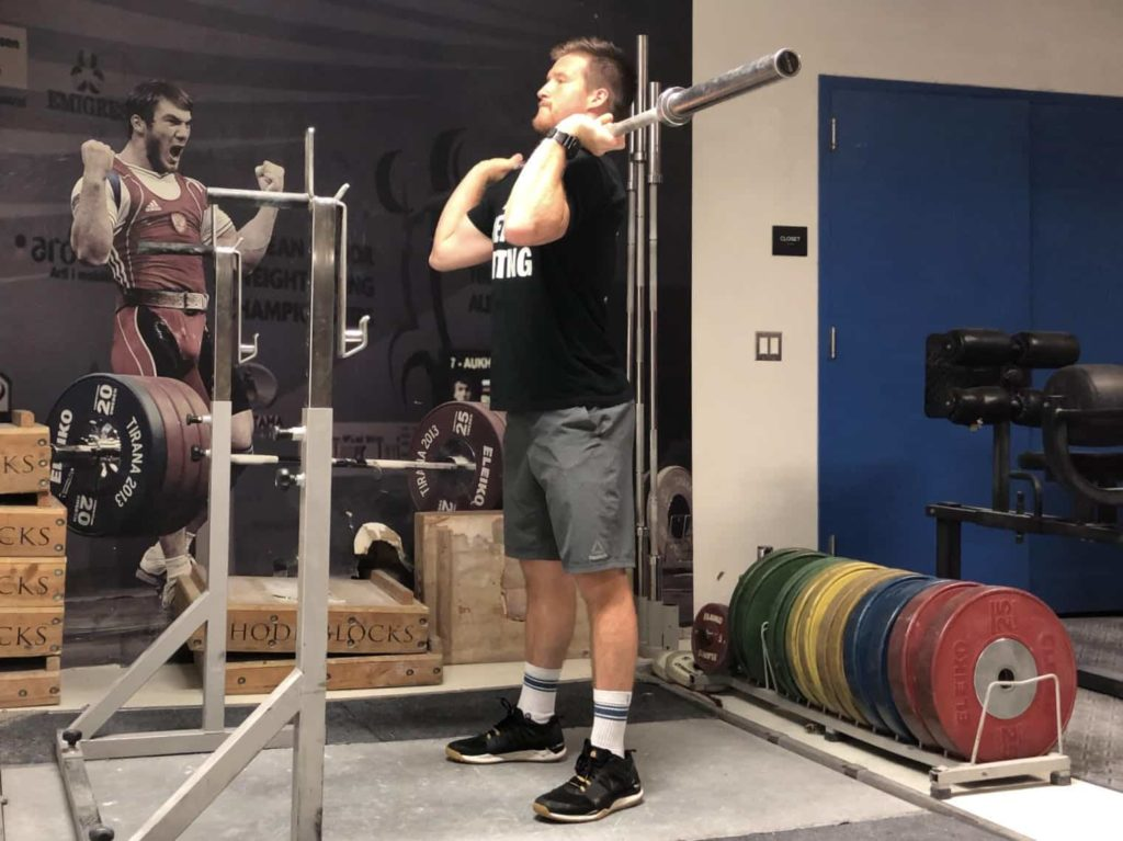 Squat Jerk Start Position