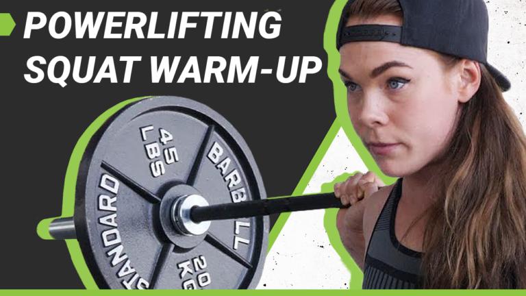 Isabella von Weissenberg Powerlifting Squat Warm-Up