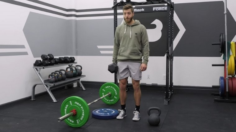 Suitcase Deadlift with Dumbbell