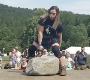 Strongwoman Leigh Holland-Keen Becomes Second Woman to Lifts Dinnie Stones