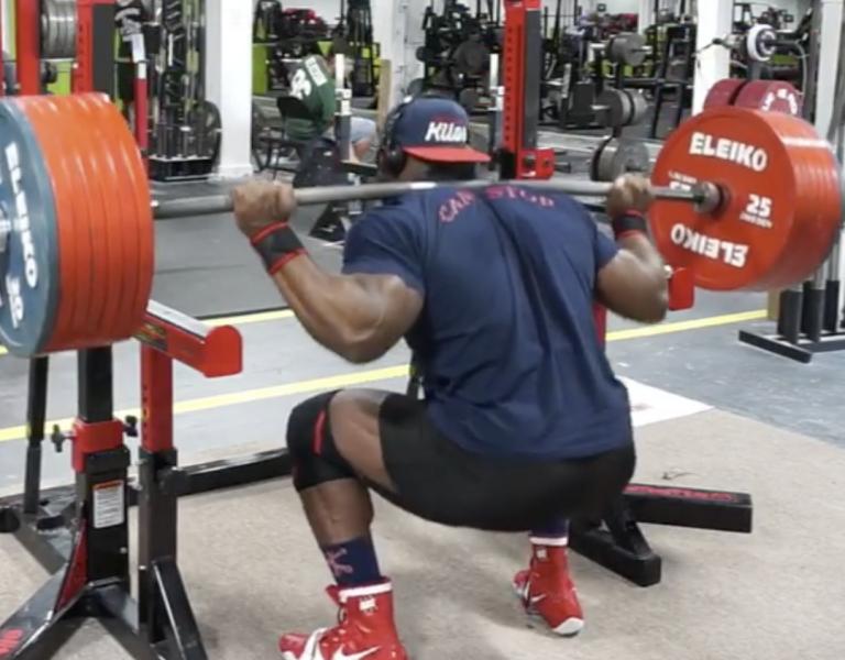 Kevin Oak Squats 365kg for 3-Reps