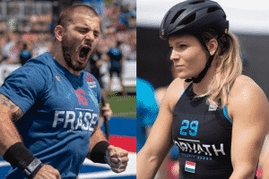Mat Fraser and Laura Horvath Day 1 Leaders of 2018 Reebok CrossFit Games
