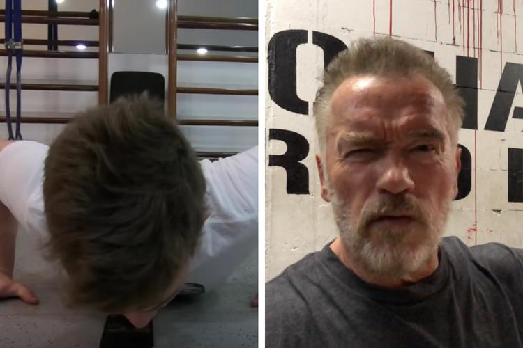 Arnold Schwarzenegger Challenges Reddit User to 500 Push-Up