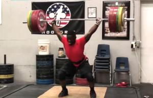 CJ Cummings 180kg squat jerk