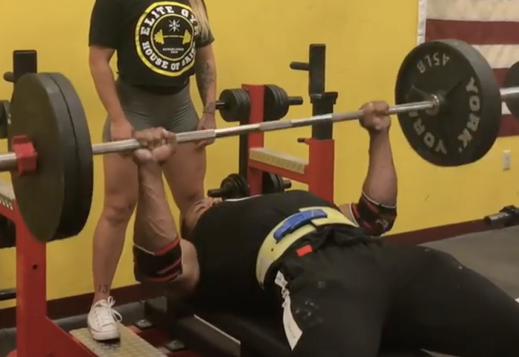 Larry Wheels Bench Presses 225 lbs for 70 Reps - BarBend