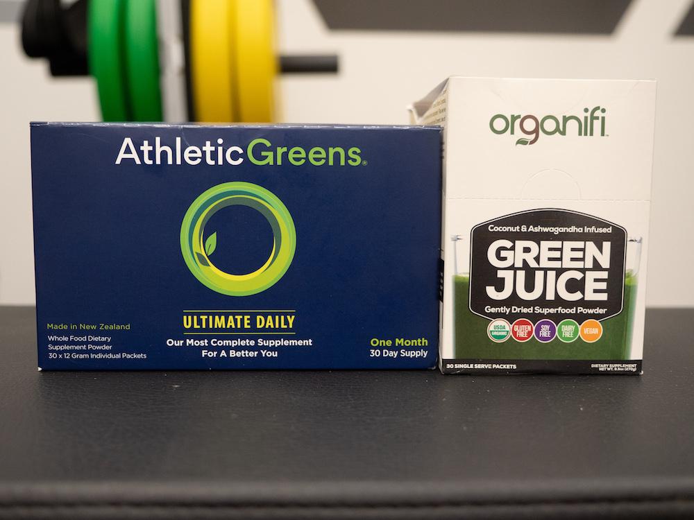 Organifi vs Athletic Greens Packaging