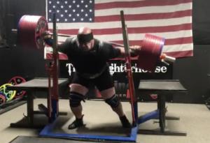 Blaine Sumner 1,025 lb Squat Fall