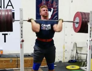 Wes Kitts 255kg Front Squat PR