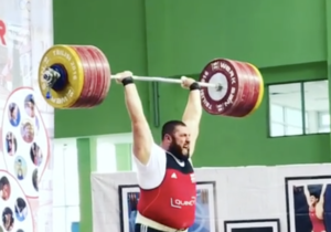 Lasha Talakhadze Clean & Jerks Unofficial World Record 264kg