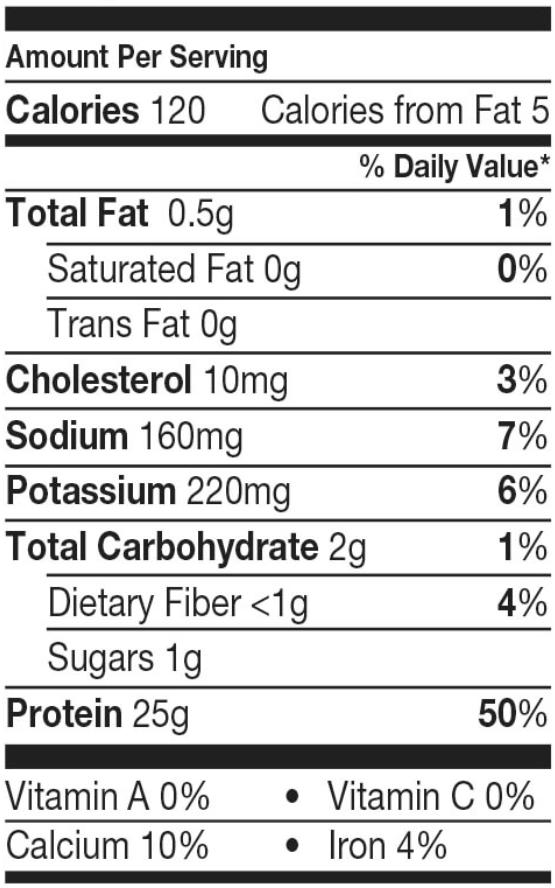 Dymatize Iso 100 nutrition