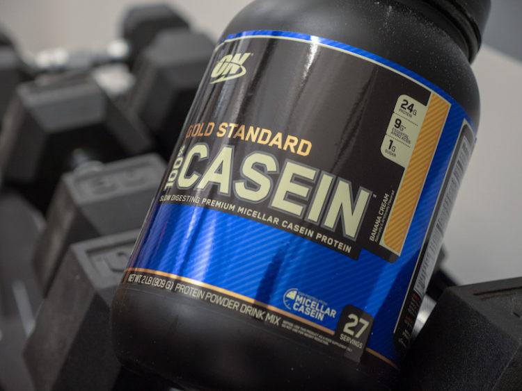Optimum Nutrition Casein on weights