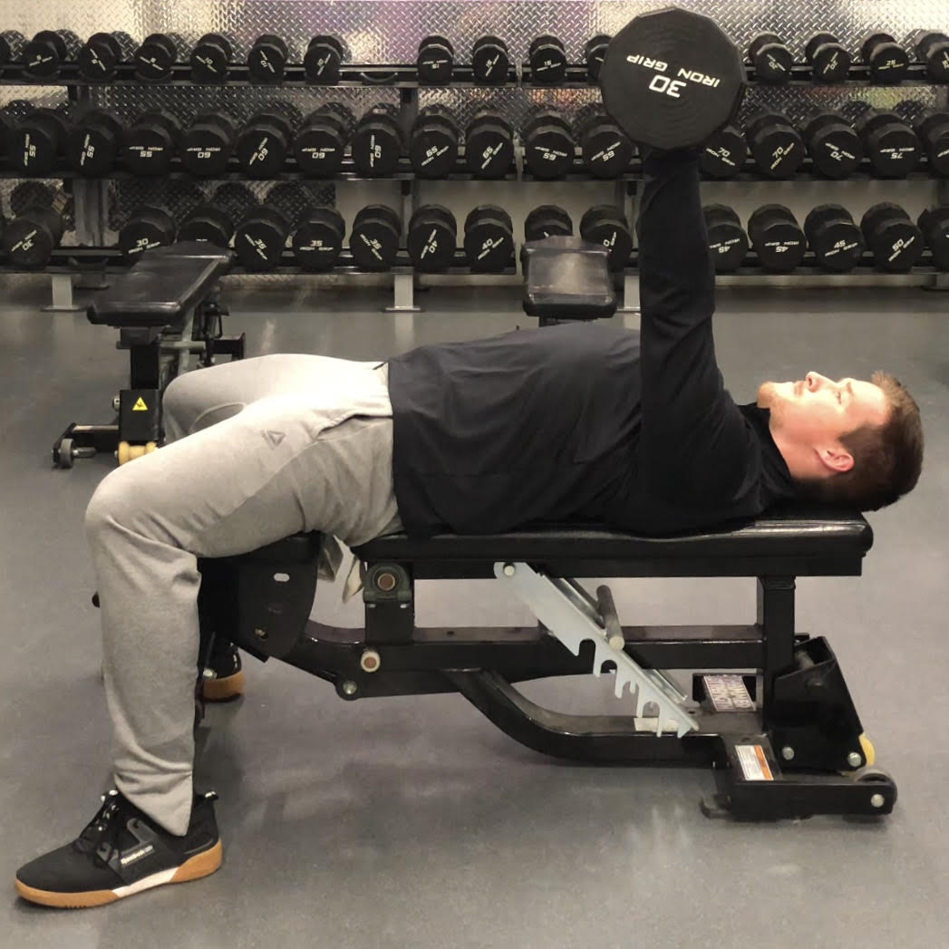 Single Arm Dumbell Bench Press