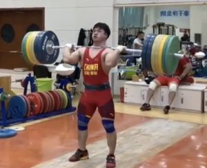 Weightlifter Tian Tao Cleans 230kg
