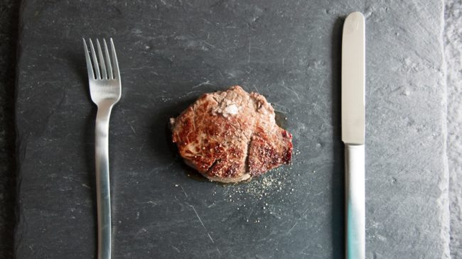 steak for dinner plate