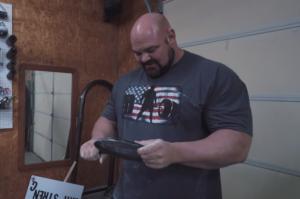 Strongman Brian Shaw Bends Frying Pans