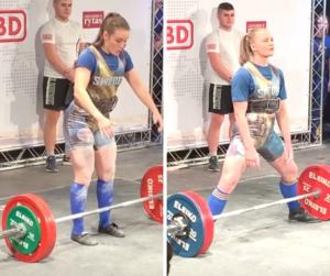 Vilma Olsson and Ida Ronn Powerlifting