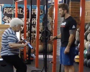 95 Year Old Grandmother Does CrossFit Workout Fran