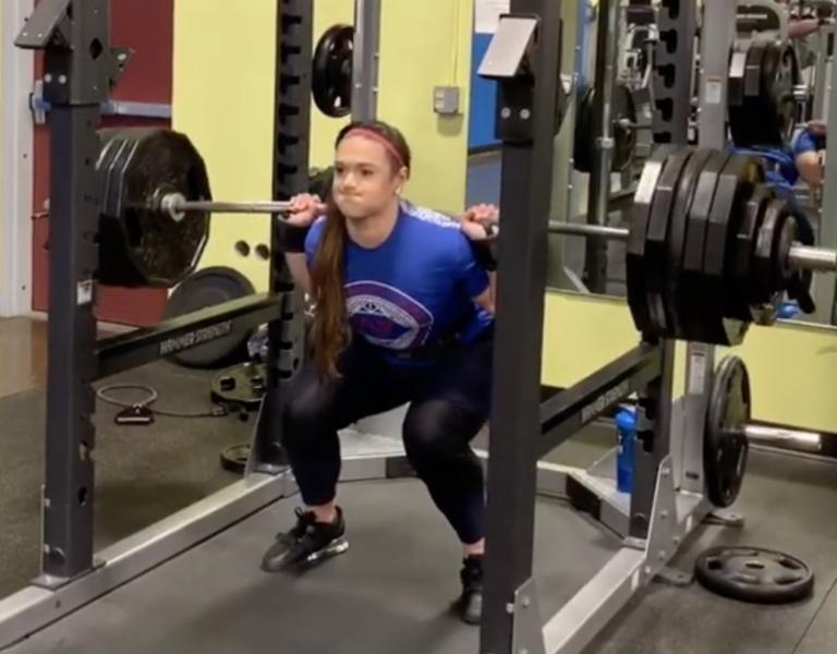 Amanda Lawrence Squat 570 lbs