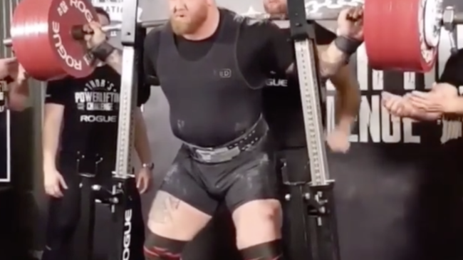 Hafthor Bjornsson Powerlifting Meet