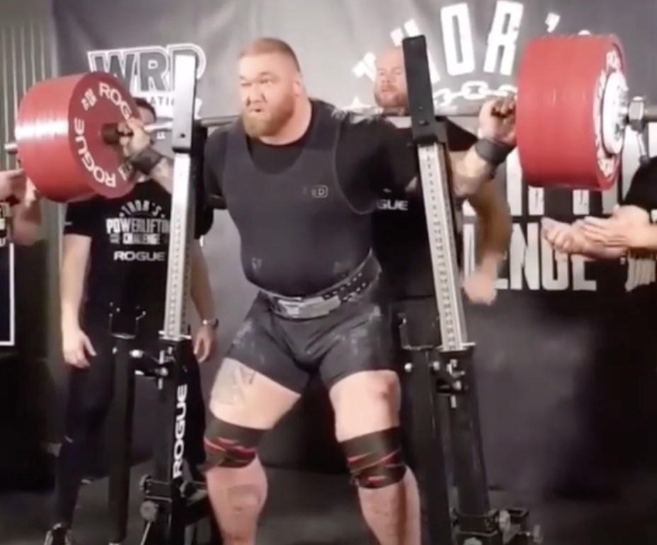 Hafthor Bjornsson Puts Up Big Total At Powerlifting Meet