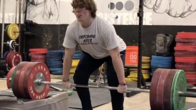 Morgan McCullough Block Cleans 190kg