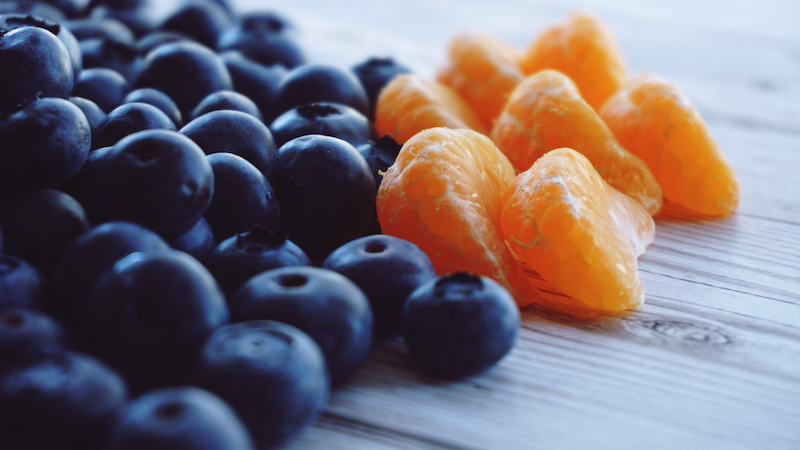 Oranges And Blueberries free