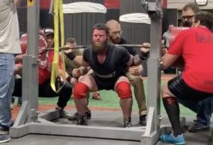 Powerlifter Tom Kallas Squat World Record