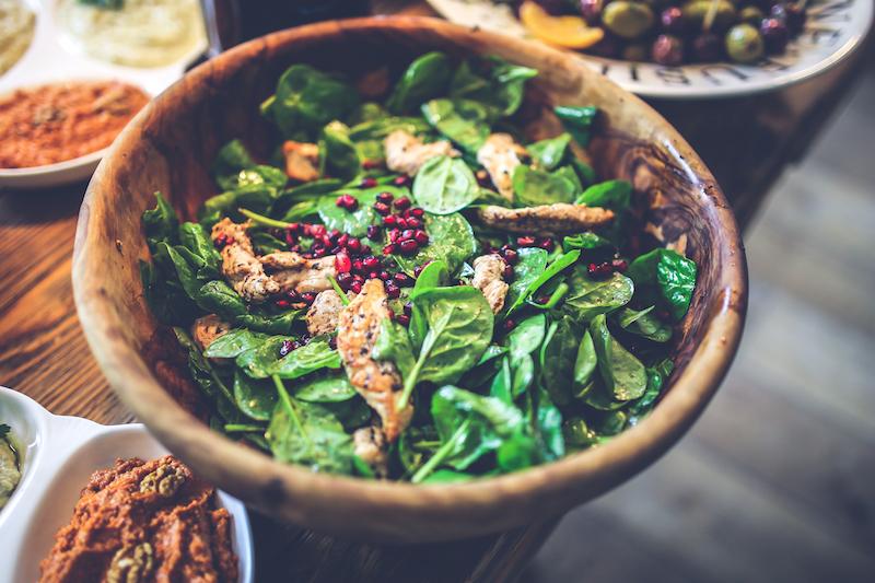 pomegranate chicken salad free