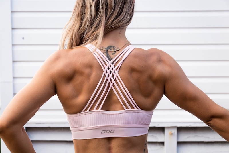 woman muscular back