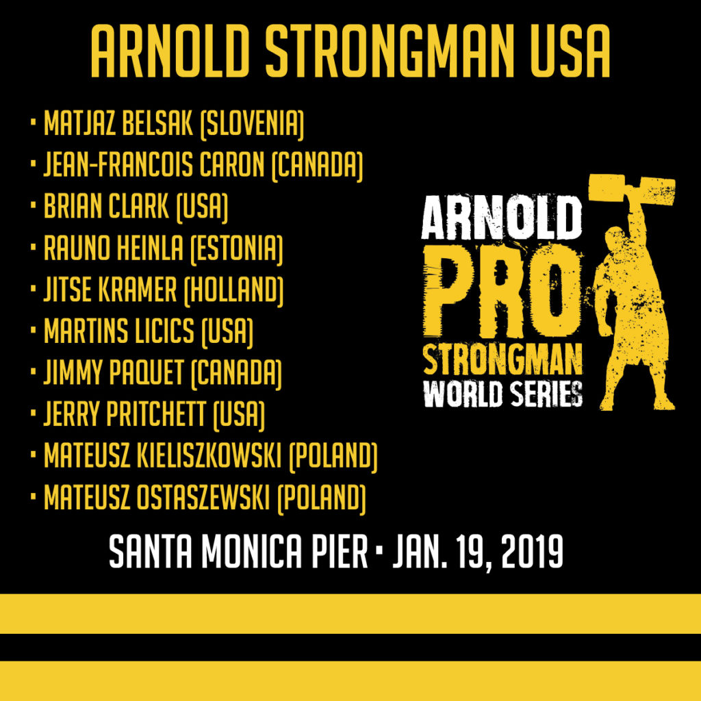 Arnold Classic Qualifier Athletes