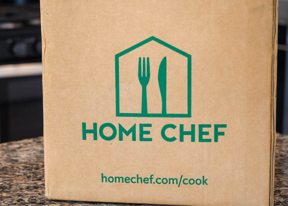 The box for a Home Chef meal