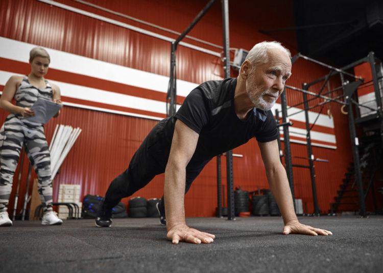 master's athlete planking