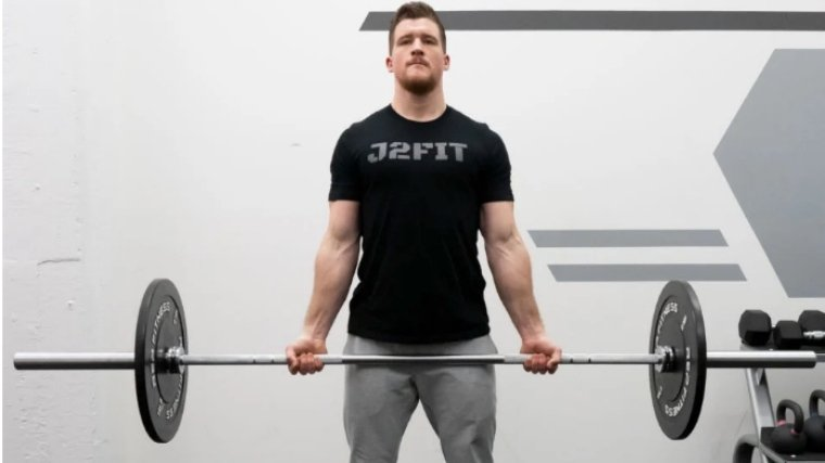 barbell curl stand straight