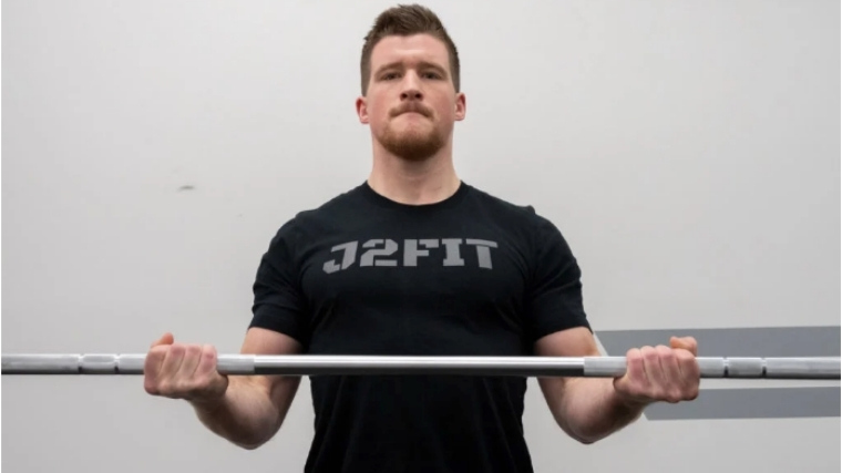 barbell curl squeeze bar