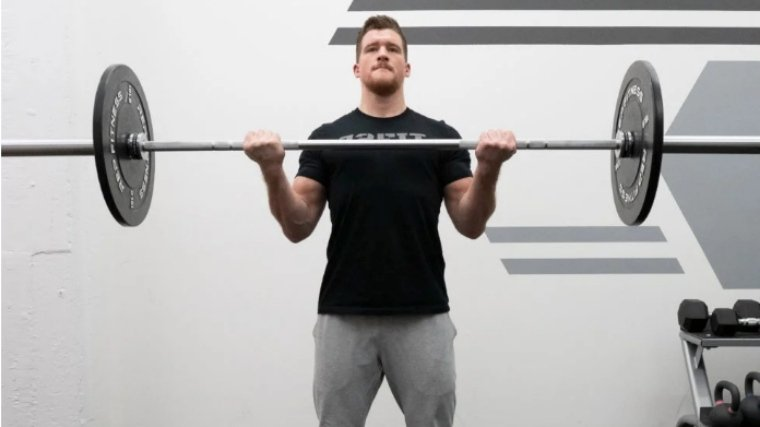 barbell curl contraction