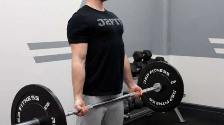 barbell curl lower bar slowly