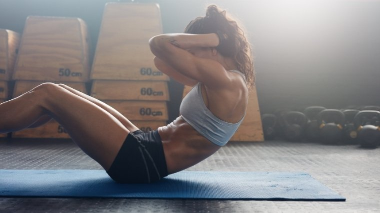 woman doing sit-up