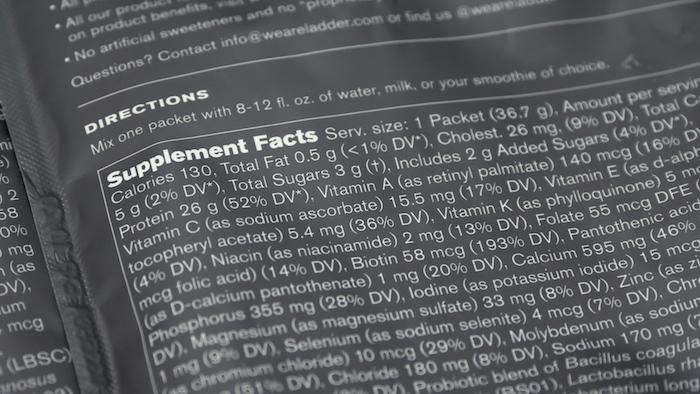 Ladder ingredients