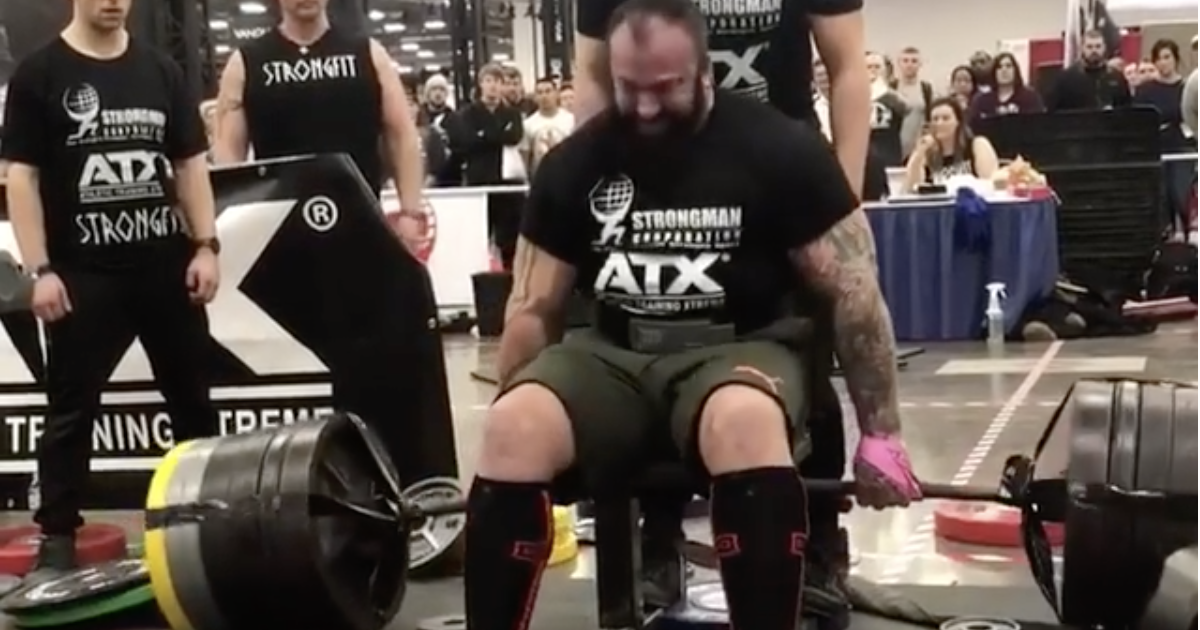 Martin Tye Deadlifts 501kg for New Seated Deadlift World Record