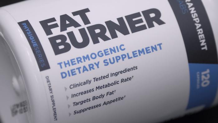 Transparent Labs Fat Burner label