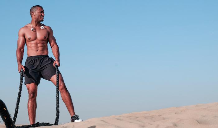 battle ropes man