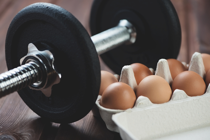 eggs and weights