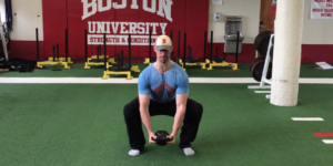 goblet squat with lowering