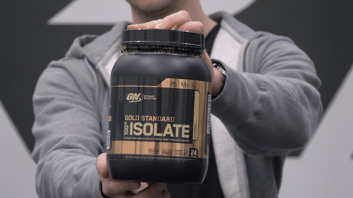 optimum nutrition gold standard isolate tub