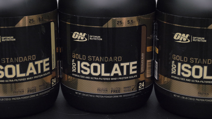 optimum nutrition gold standard isolate tubs