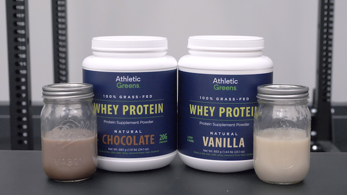 Athletic Greens Whey mixed
