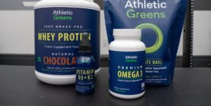 Athletic Greens produce lineup featured