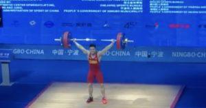 Shi Zhiyong 2019 Asian Weightlifting Championships